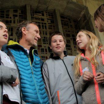 Hugues Chardonnet avec les stagiaires